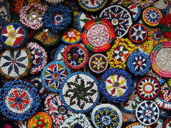 handmade beaded dress flower amulets from Afghanistan