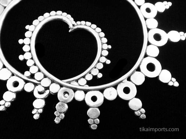 Kogomi Odyssia Brass Earrings with sterling silver post earwires - closeup detail