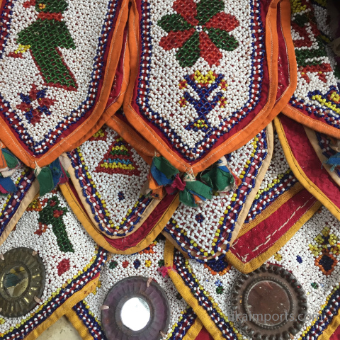 assorted vintage textiles