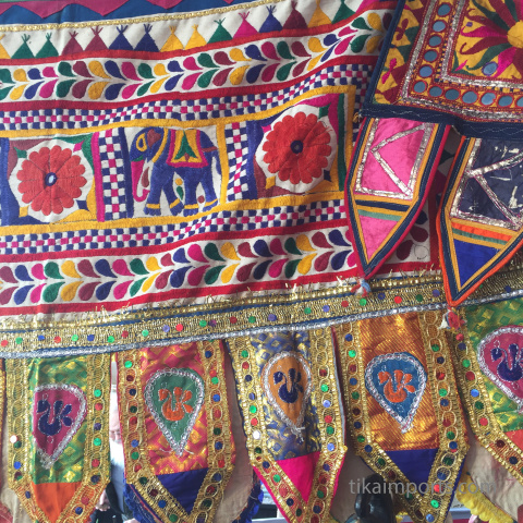 closeup detail of textiles