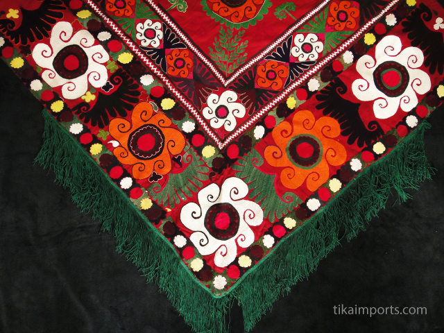 vintage embroidered saye gosha from central asia