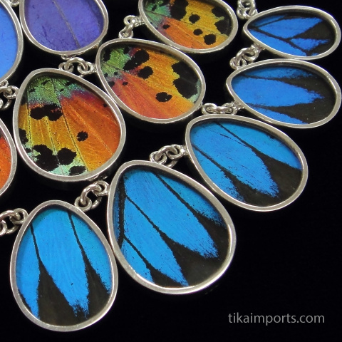 shimmerwing teardrop necklaces