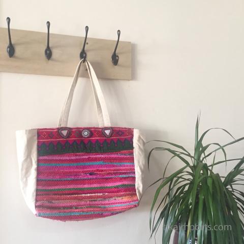 custom bag embellished with Tika items