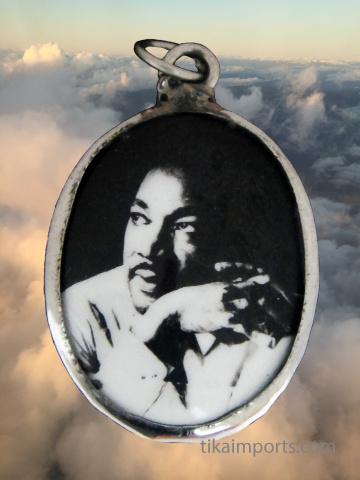 enamel pendant featuring Drr. Martin Luther King Jr