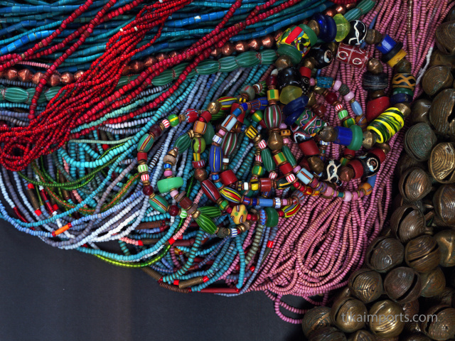 assorted antique African trade beads