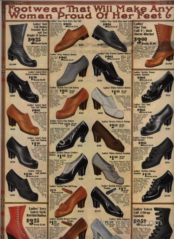 Vintage Victorian boot button boot catalog