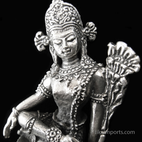 Indra brass deity statuette