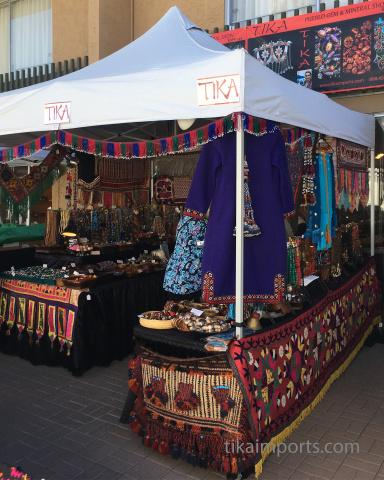Tika's booth at the Pueblo Gem Show in Tucson 2018