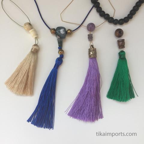 guru beads and tassels to make your own mala