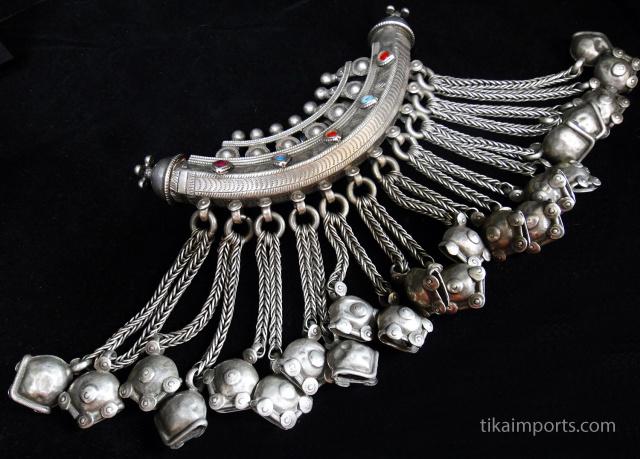 Antique Afghan Silver Dorsal Pendant