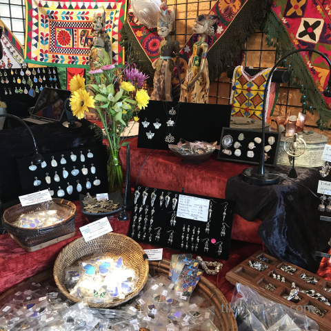 assorted merchandise on display in Tika's Tucson showroom