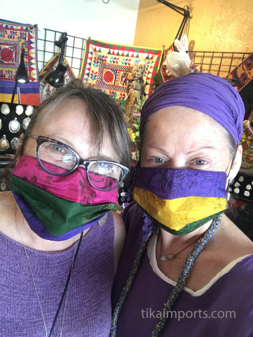 Ellen and Diane in Tika's Tucson showroom
