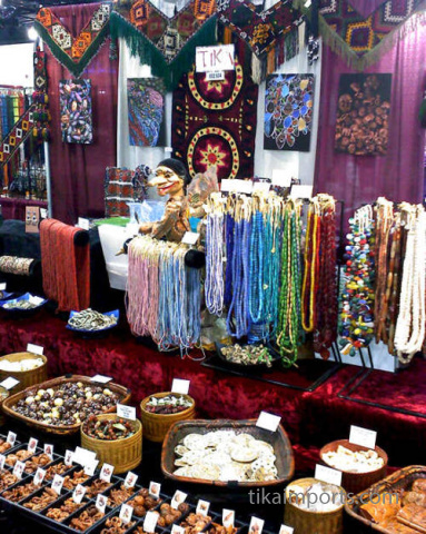 Tika's booth at the Bead & Button show in Milwaukee 2011
