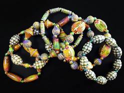 Closeout thermo-sensitive color changing Mirage Bead stretch bracelets