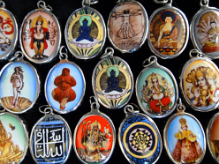 closeout enameled deity and inspirational pendants