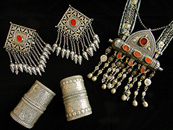antique Turkoman and Afghani jewelry