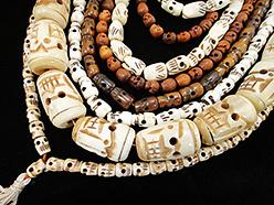 handcarved skull prayer bead mala and bracelets