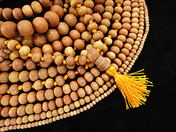 handcarved natural sandalwood prayer bead mala and bracelets