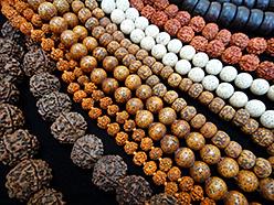 prayer bead mala made from natural seed materials