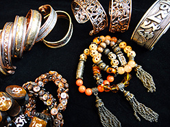 assorted cuffs and stretch bracelets