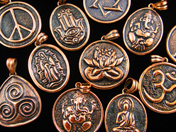Handmade Copper Amulet pendants