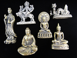 medium brass statuettes