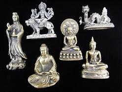 medium brass statuettes