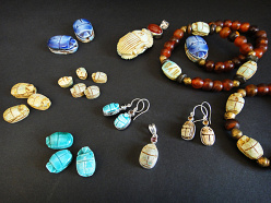 Scarab Beads and Jewelry