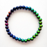 color-changing Micro Mirage Bead stretch bracelet