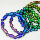 assorted original color changing mirage bead stretch bracelet