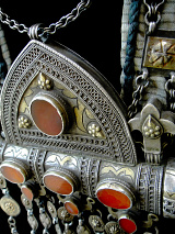 closeup detail of Turkoman necklace