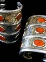 Pair of three-tiered Turkoman Cuffs