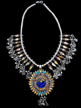 top view of traditional amulet necklace from Afghanistan