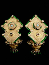 Pair of 19th Century Turkoman Large Ear Ornaments