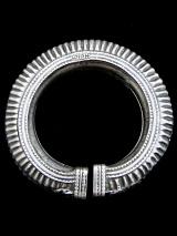 Single Old Afghani Silver Hollow-form Bangle