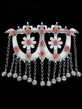 front view of Antique Afghani Silver Ornament