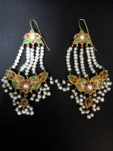Reversible vintage gold earrings from Pakistan