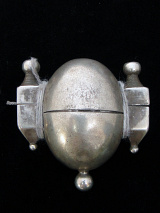 Antique Silver Shiva Lingham box