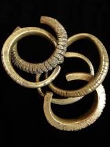 Set of 4 Antique Laotian Brass Cuffs