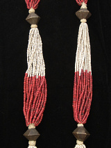 Antique beaded multi-strand necklace from Orrissa