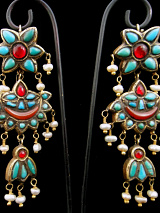 Antique Afghani Gilt Silver Earrings
