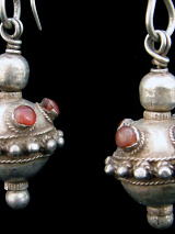 closeup of Antique Afghani Earrings