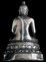 back of Buddha brass deity statue, the sage on whose teachings Buddhism was founded