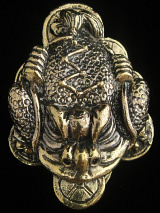 The Lucky Three-legged Frog brass deity statue, renouned in Feng Shui for attracting wealth and prosperity