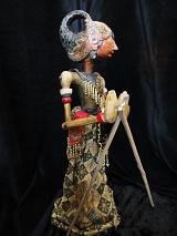 traditional wayang golek puppet Sadewa from the Mahabharata. Handmade in Java, Indonesia