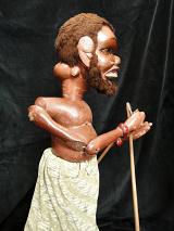 traditional wayang golek puppet Kala Rahu from the Mahabharata. Handmade in Java, Indonesia