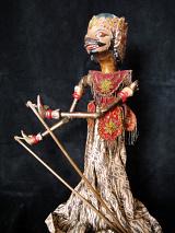 traditional wayang golek puppet Narasoma from the Mahabharata. Handmade in Java, Indonesia
