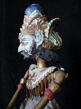traditional wayang golek puppet Maenaka from the Ramayana. Handmade in Java, Indonesia