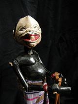 traditional wayang golek puppet Semar from the Mahabharata. Handmade in Java, Indonesia