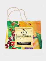 small Jan small Sandesh Newspaper Gift Bag with twine handle